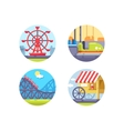 Amusement park and recreation vector image