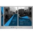 Cover design annnual report flyer presentation vector image
