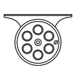 Spinning reel icon outline style vector image