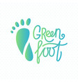 logo of center of eco foot vector image