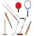 bits and stick to sports vector image vector image