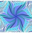 Fantastic blue flower vector image
