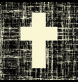black cross on grunge background textures vector image vector image