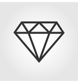 Diamond icon flat design vector image vector image