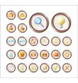 series icons for web vector image vector image