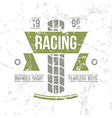Emblem motorcycle racing club in retro style vector image