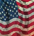 Low polygon of USA American flaG vector image