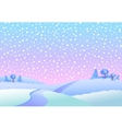 Winter landscape in day vector image vector image