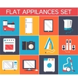 Flat modern kitchen appliances set icons concept vector image