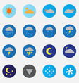Weather icon sets color vector image