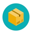 Cardboard box for packaging vector image
