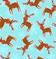 Christmas reindeer patch icon pattern background vector image