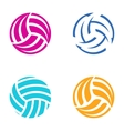 Colorful volleyball balls vector image