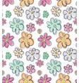 doodle floral pattern vector image