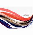 elegant colorful wave stripes vector image