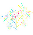 fireworks and celebration background vector image