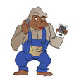 gorilla with gadgets vector image