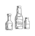 Ketchup mustard and sea salt condiments vector image