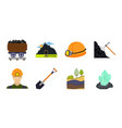 mining industry icons in set collection for design vector image