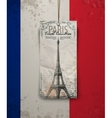sketch of the Paris Eiffel Tower vector image