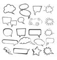 Set of the speech bubbles on white background vector image vector image