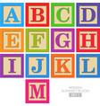 Wooden alphabet blocks vector image vector image