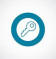 key icon bold blue circle border vector image