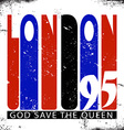 Retro London logo vector image vector image