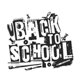 Slogan Back to school grunge style vector image