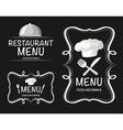 Banner design with restaurant menu vector image