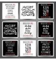 Set of handwritten English alphabets vector image