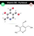 Pyridoxal chemical molecular formula vector image
