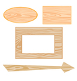 wooden signboards vector image vector image