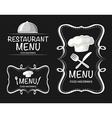 Banner design with restaurant menu vector image