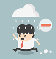 business people negative thinking vector image