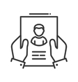 Resume - line design single isolated icon vector image