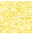 yellow circles seamless pattern vector image