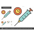 Anesthesia line icon vector image