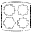 set of frames hexagonal and rounded rope vector image vector image