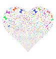 sum fireworks heart vector image