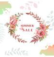 flower wreath sale vector image