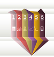 Numbered colored Ribbons vector image