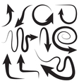 Different arrows directions positions vector image vector image