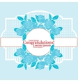 Greeting card with roses vector image