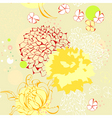 seamless wallpaper with floral element vector image