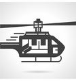 Helicopter black icon vector image
