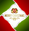 christmas ripped paper card vector image vector image