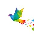 Bird abstract triangle design vector image