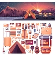 day landscape mountains sunrise vector image