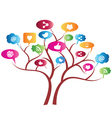 Social Network Tree vector image